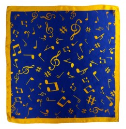 AN5-009 Small silk scarf with sheet music, 55x55 cm