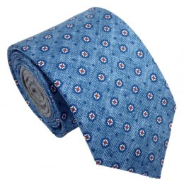 IT-070 Blue Polka Dot Silk Tie - MILANO