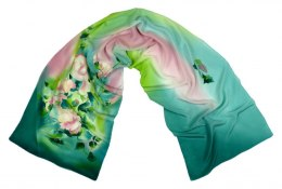 SZ-106 Hand-painted Silk Shawl